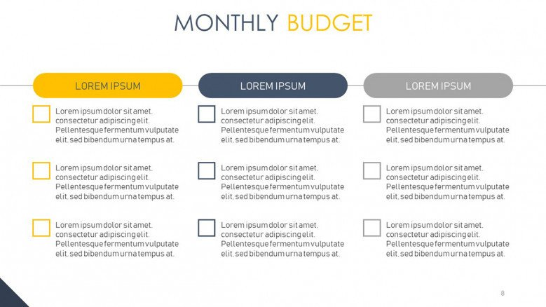 Project budget checklist