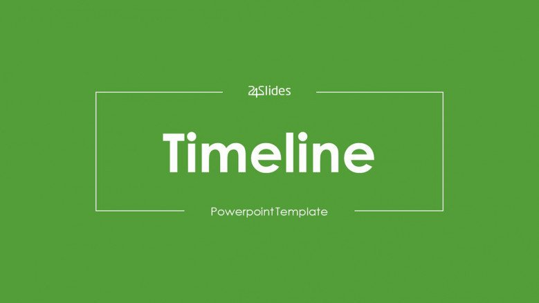 welcome slide for timeline presentation in green