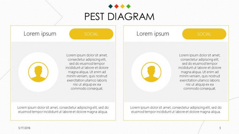 PEST Diagram contact profile slide with image