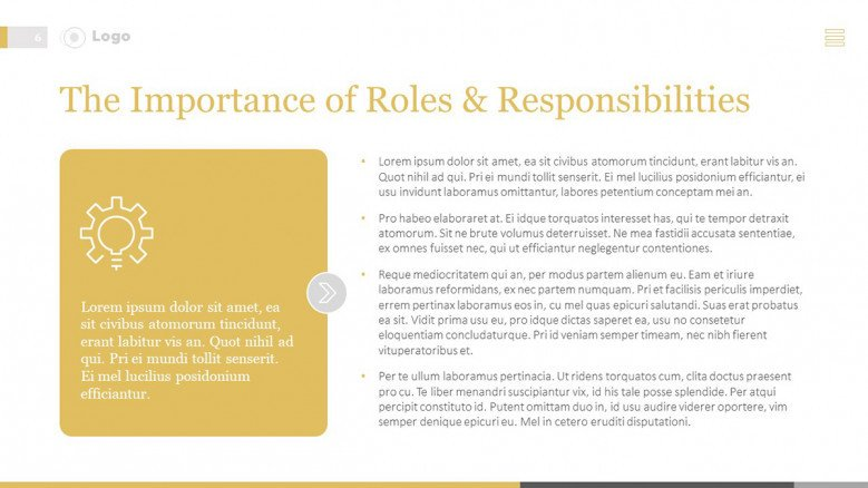 Importance of Roles and Responsibilities Slide