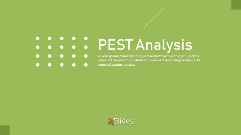 Title Corporate Slide PEST Analysis Presentation