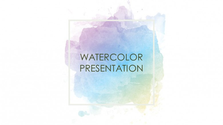 Watercolor Background Presentation