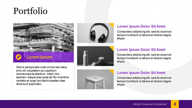 Creative Portfolio Slide for Team Introduction