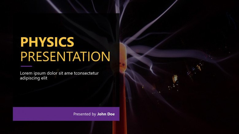 Physics Presentation PowerPoint Template