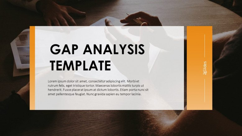 Title Slide for a GAP Analysis Presentation