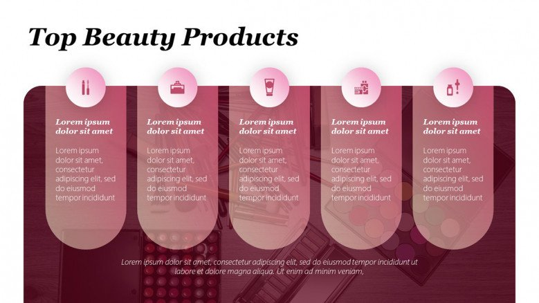 Top 5 Beauty Products Slide