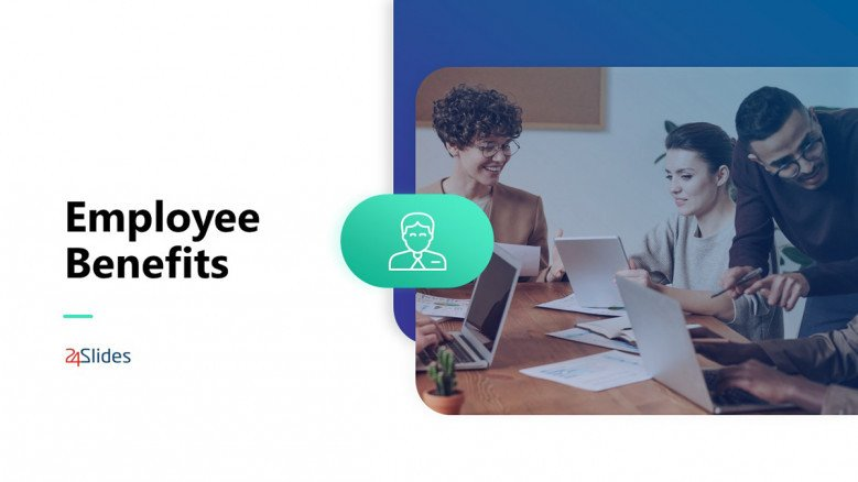 Blue Employee Benefits PowerPoint Template