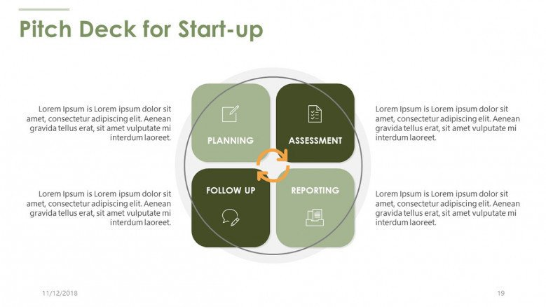 pitch deck for start up matrix chart