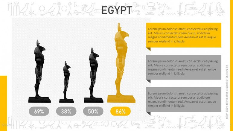 Egyptian statistical graphic