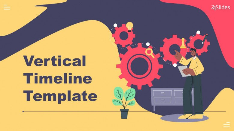 Vertical Timeline in playful style