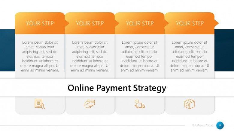 Online Payment Four-Step Process Slide