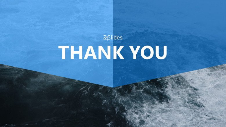 blue ocean strategy thank you slide