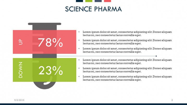 science pharma data comparison slide with key points