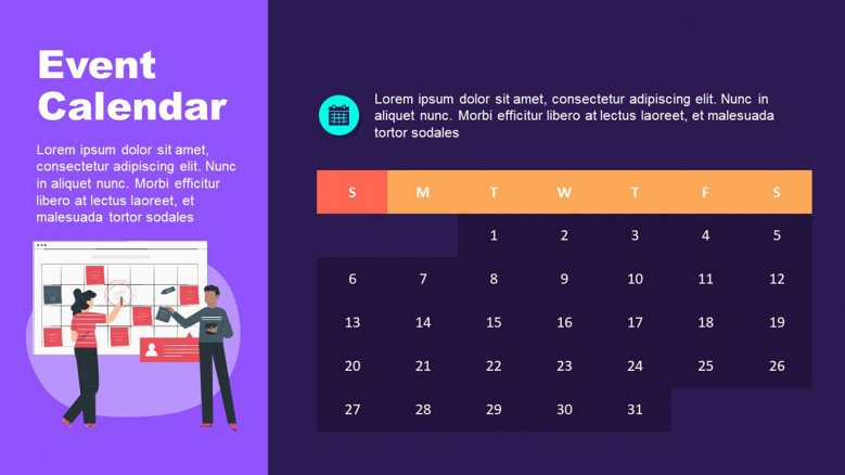 Simple Event Calendar in PowerPoint