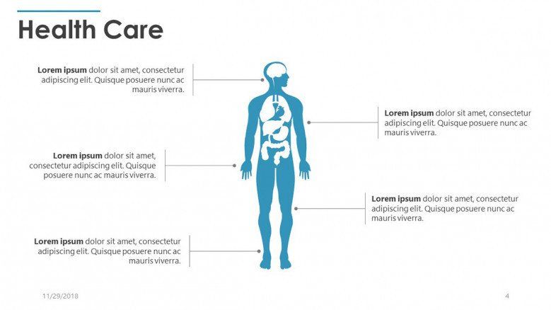 health care slide with human body illustration