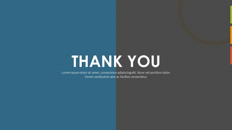 creative personal resume thank you slide