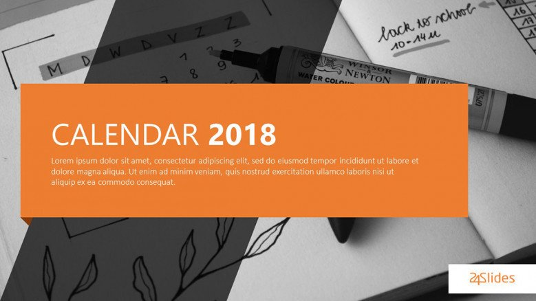 2018 calendar welcome slide
