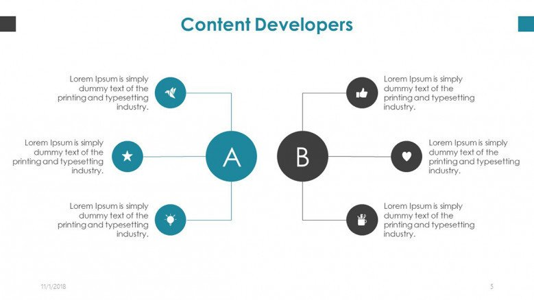 content developer diagram with icons