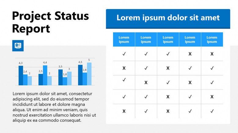 Project Status Table in PowerPoint