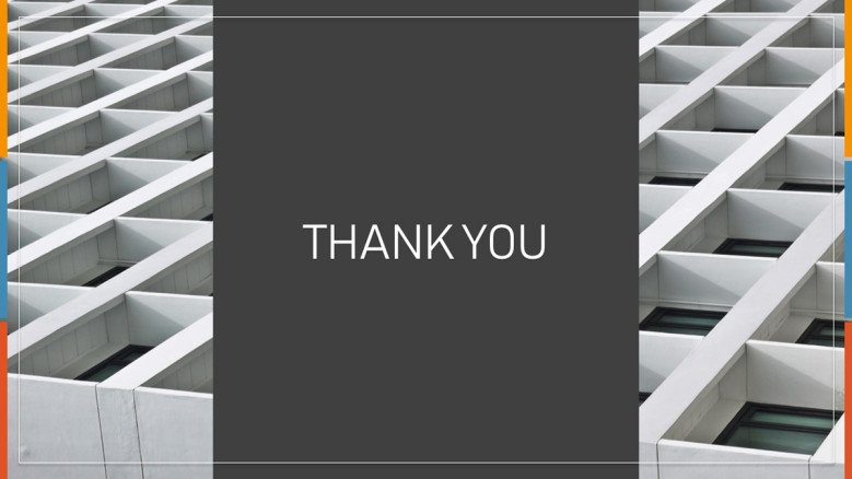 Grey Thank You Slide for the end of a corporate presentation