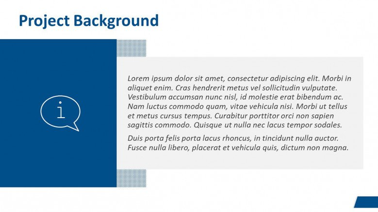 Project Background Slide for a Business Case Presentation