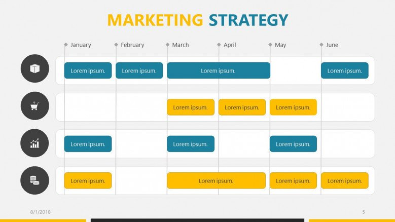 business roadmap marketing strategy in calendar