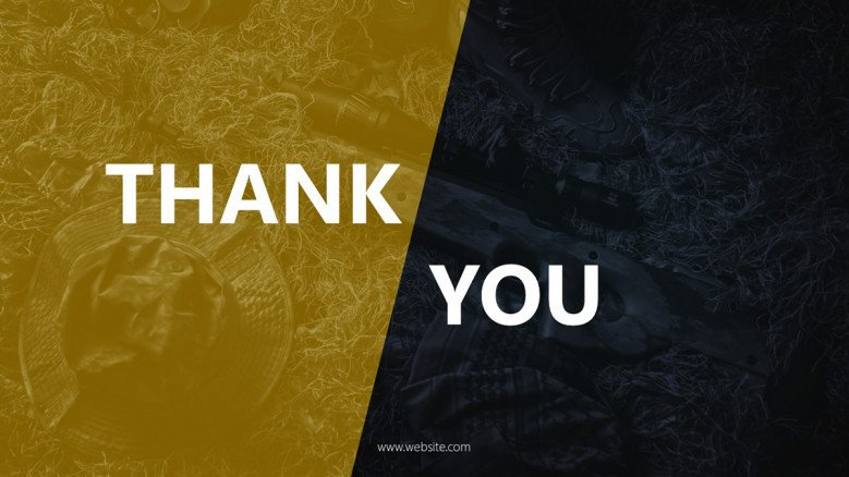 Dark-themed Thank You Slide