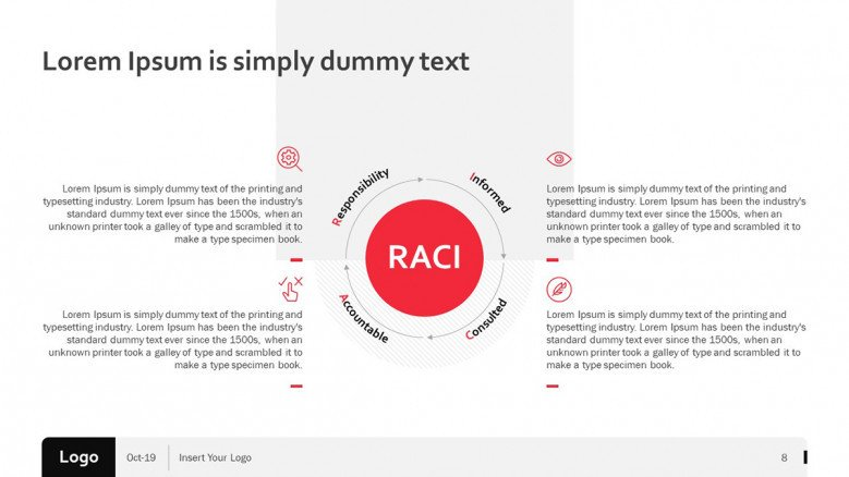 Creative RACI Matrix Slide