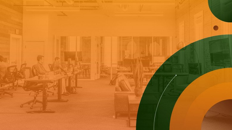 Orange and green PowerPoint Template