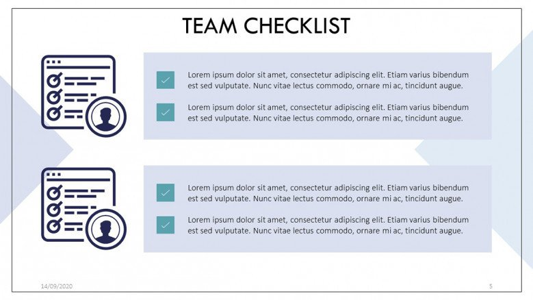 Team Checklist in corporate style