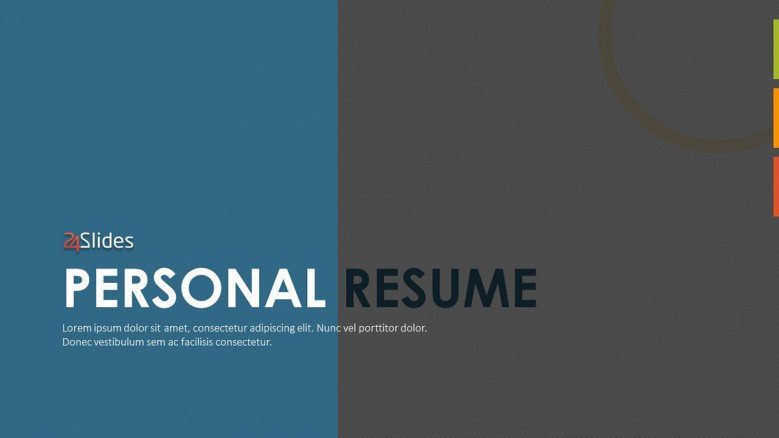 creative personal resume welcome slide