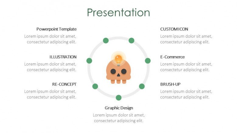 creative chart creative slide for halloween theme presentation