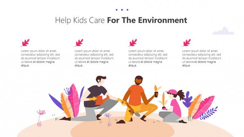 Kids and the environment text slide