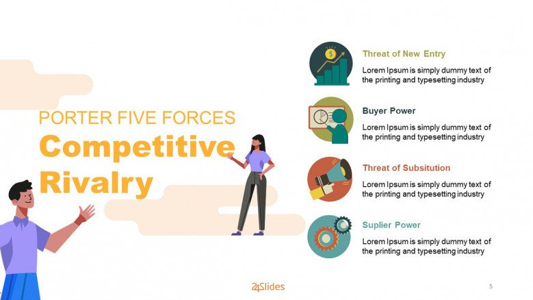 Porter Five Forces Slide with illustrations