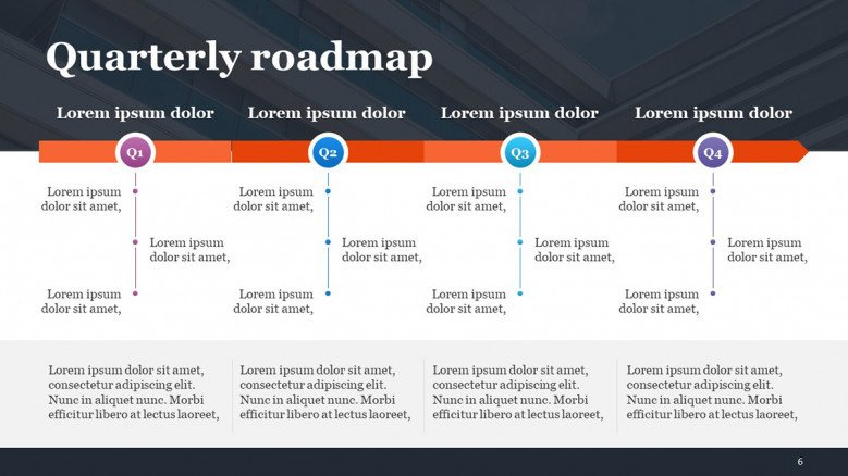 Quarterly Product Roadmap in PowerPoint for product managers