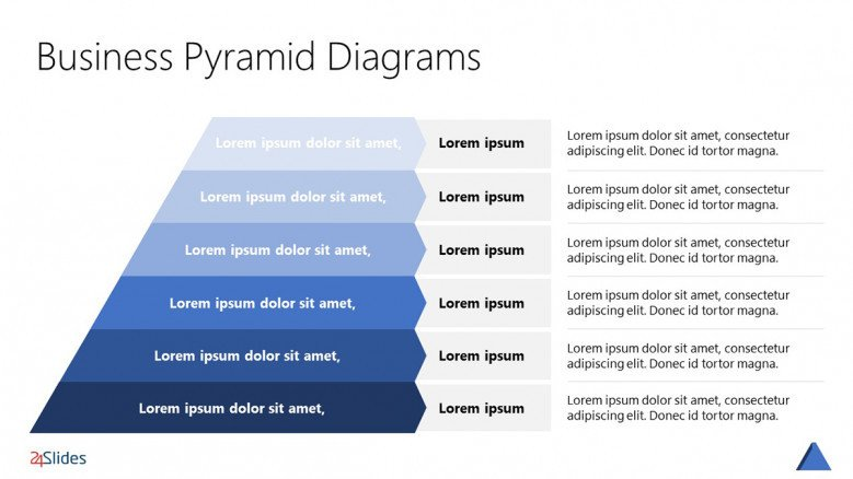 Pyramid Hierarchy Template with six layers