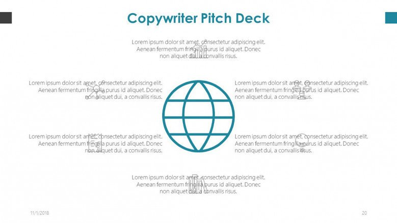 copy writer global slide with text