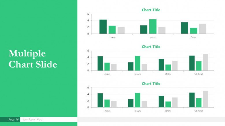 Multiple Charts Slide for a Boston Consulting Group Presentation