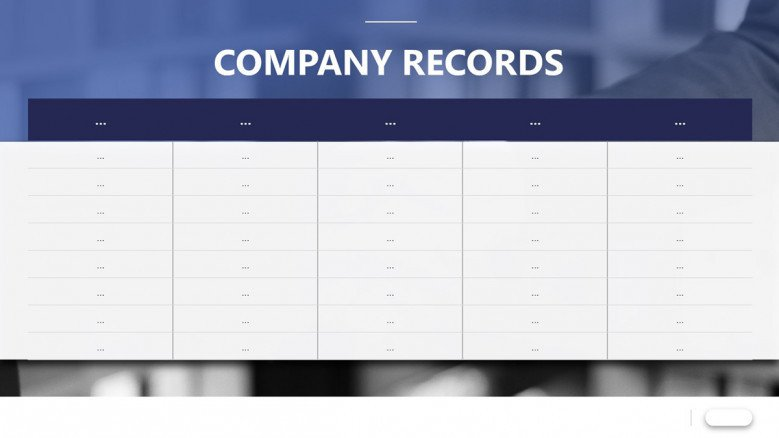 Simple table for sales company records