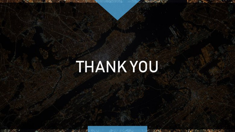 Dark-themed corporate Thank You Slide