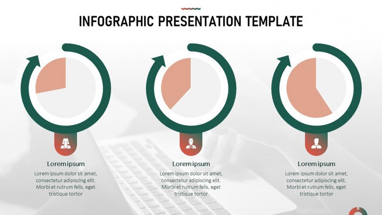 Data-driven pie charts for infographic data presentation