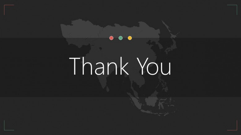 Thank you Asia map slide