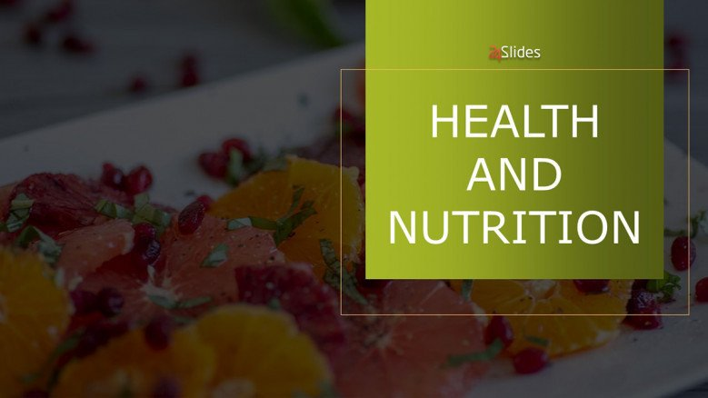 Health and nutrition PowerPoint Template