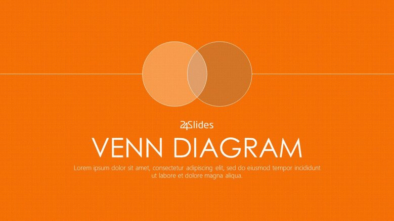 venn diagram welcome slide in corporate style