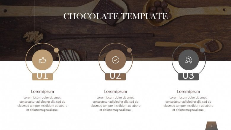 Three steps chocolate timeline