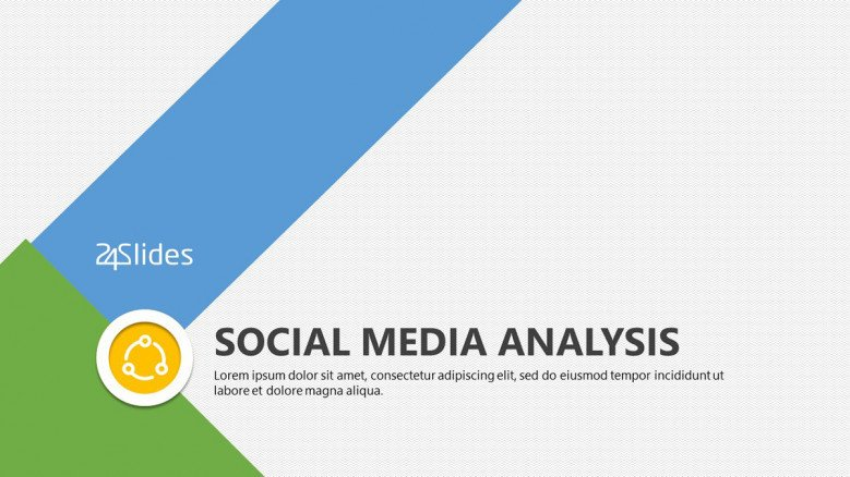 welcome slide for social media analysis presentation
