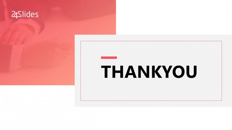 white and pink creative thank you slide