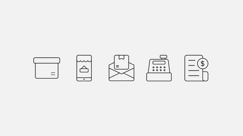 M-commerce icons