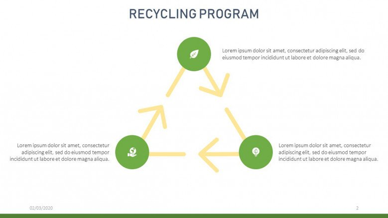 Simple Recycling Diagram Slide