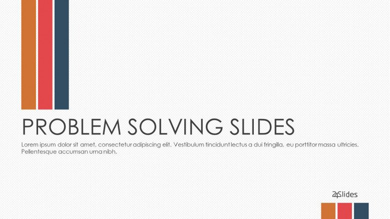 welcome slide for problem solving presentation